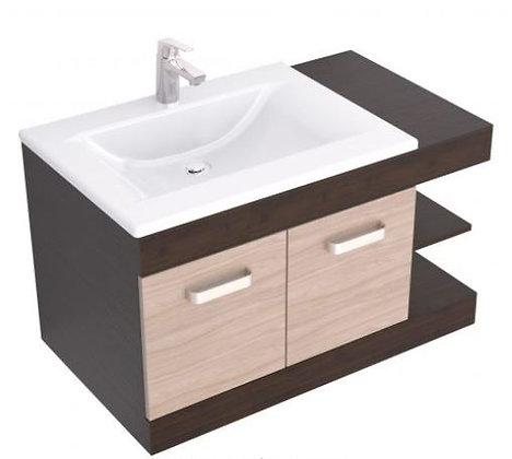 Mueble de baño en combo -Lavamanos Trentino +mueble Vivaldi 82x48