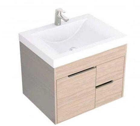 Mueble de baño en combo -Lavamanos siena+mueble Tiziano elevado 79x48 Soder
