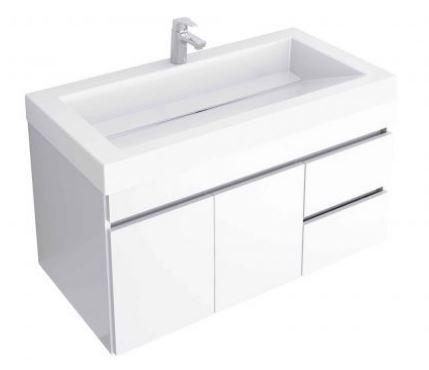 Mueble de baño en combo-Lavamanos Genova + mueble Viteli termolaminado 94x48