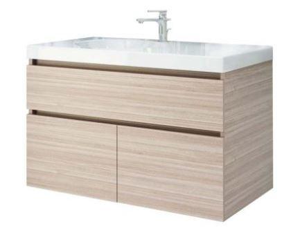 Mueble de baño en combo- Lavamanos Parma+ Mueble Macao 79x48