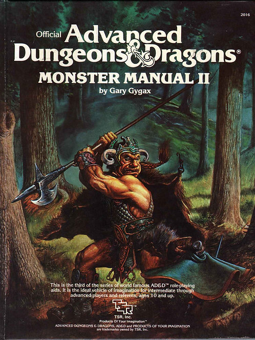 AD&D MONSTER MANUAL II V.O. OCCASION (A)