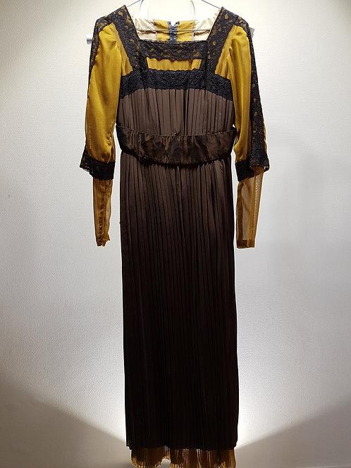 Robe style 1900, soie Marron