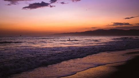Lone surfer Venice Beach