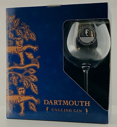 Pair of Dartmouth English Gin Copa Glasses & Gift Box