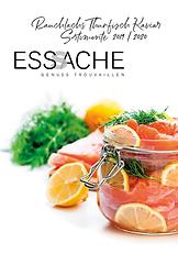 Swiss Rauchlachs Tuna Kaviar Katalog Titelseite ESSACHE