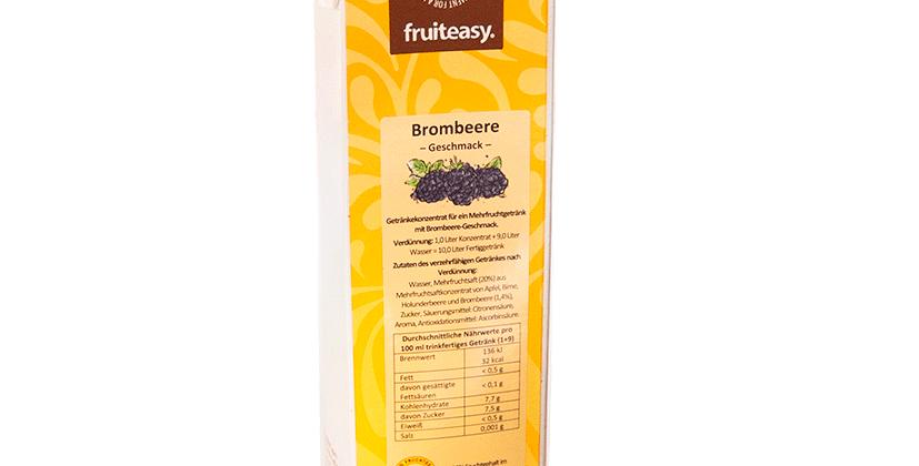 BROMBEER-GETRÄNK MIT ZUCKER 1.0 Liter, Konzentrat 1+9 für 10 Lt. Getränk