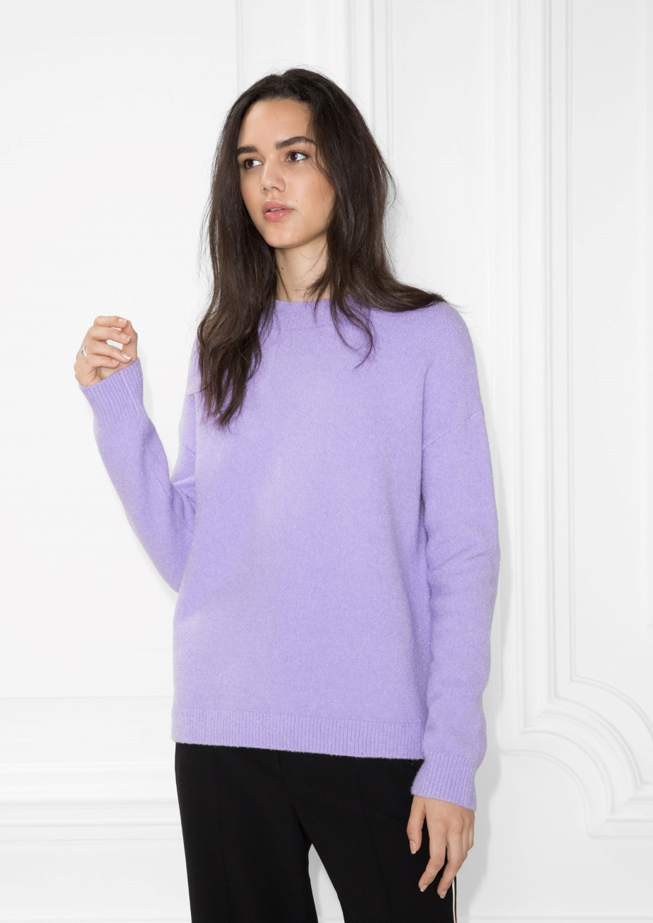 & Other Stories Knit Sweater in Purple