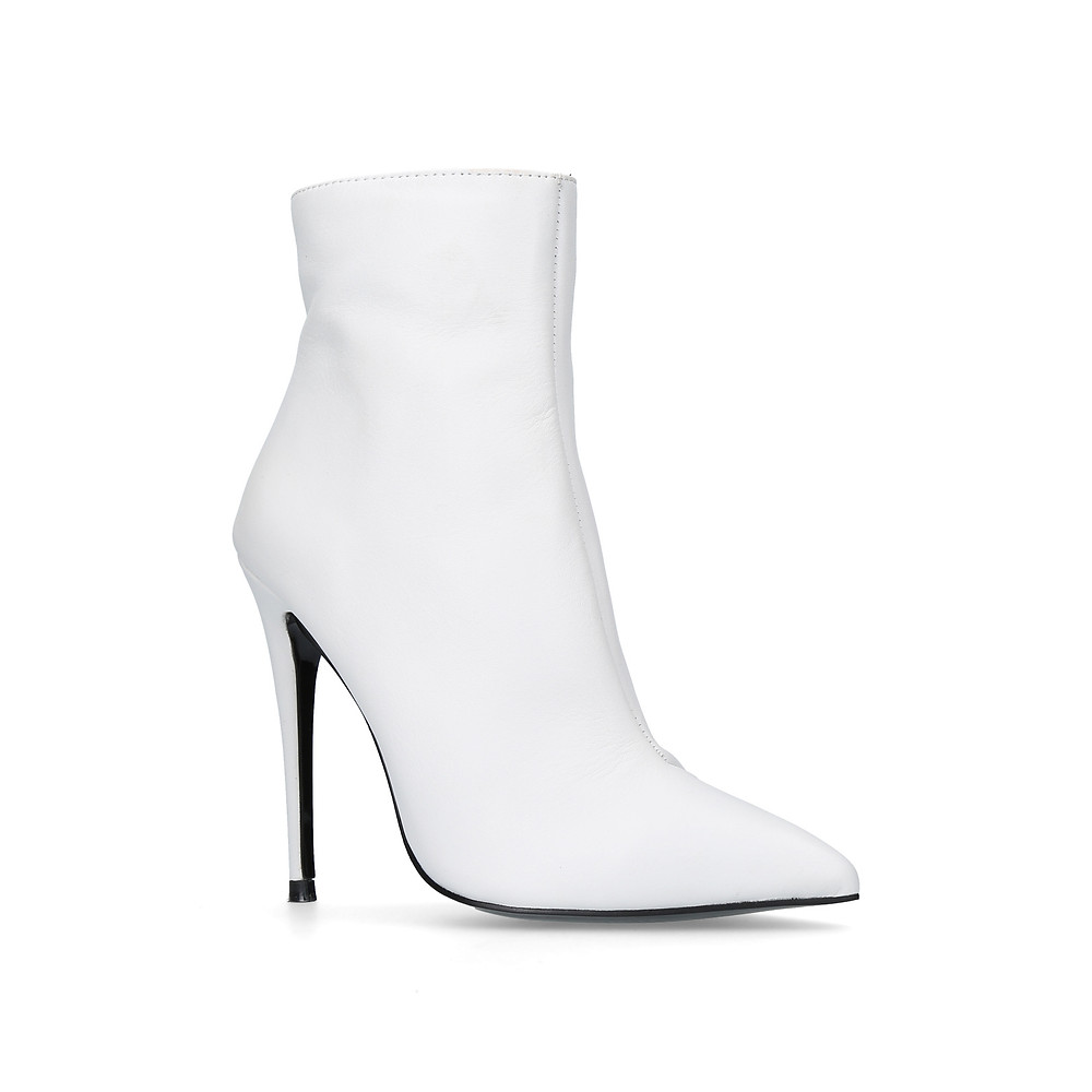Ride White High Heel Ankle Boots Kurt Geiger