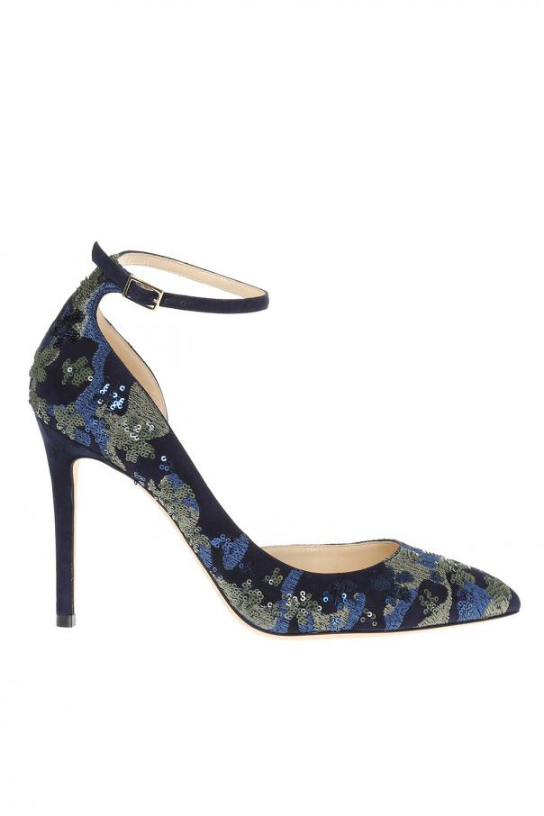 jimmy choo lucy sequin pumps