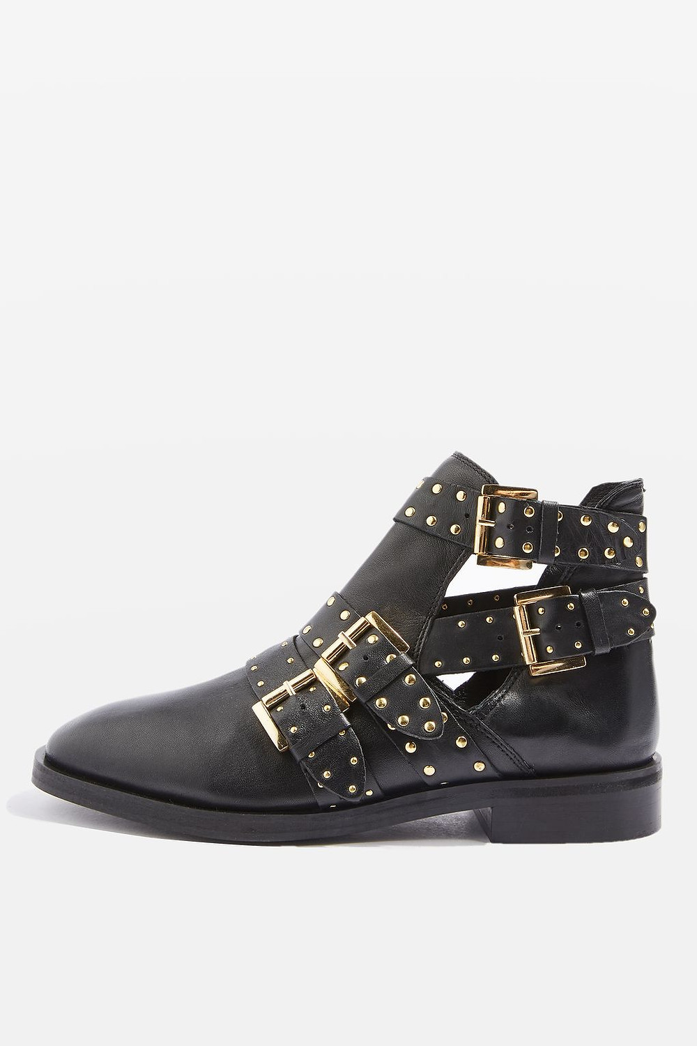 Topshop ARK Studded Buckle Boots