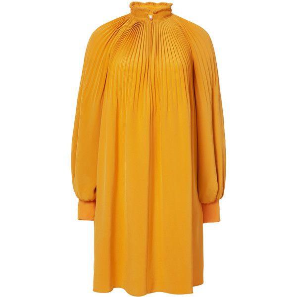 dvf Scarf-print high-neck silk shirt