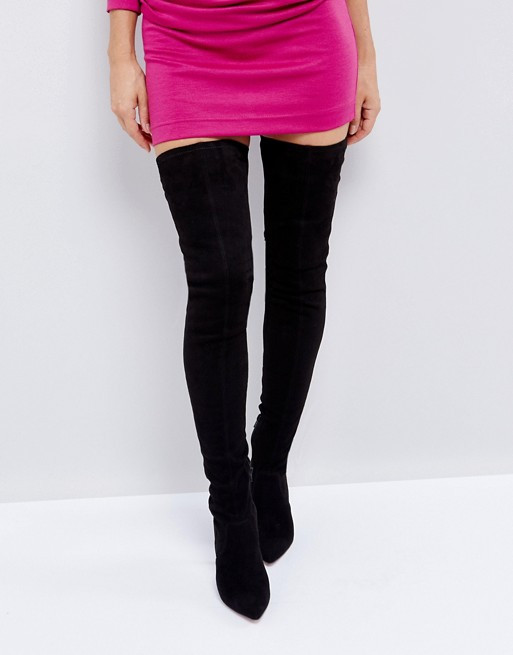 ASOS KENDRA Point Over The Knee Boots
