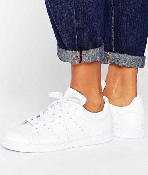 Adidas Originals All White Stan Smith Trainers
