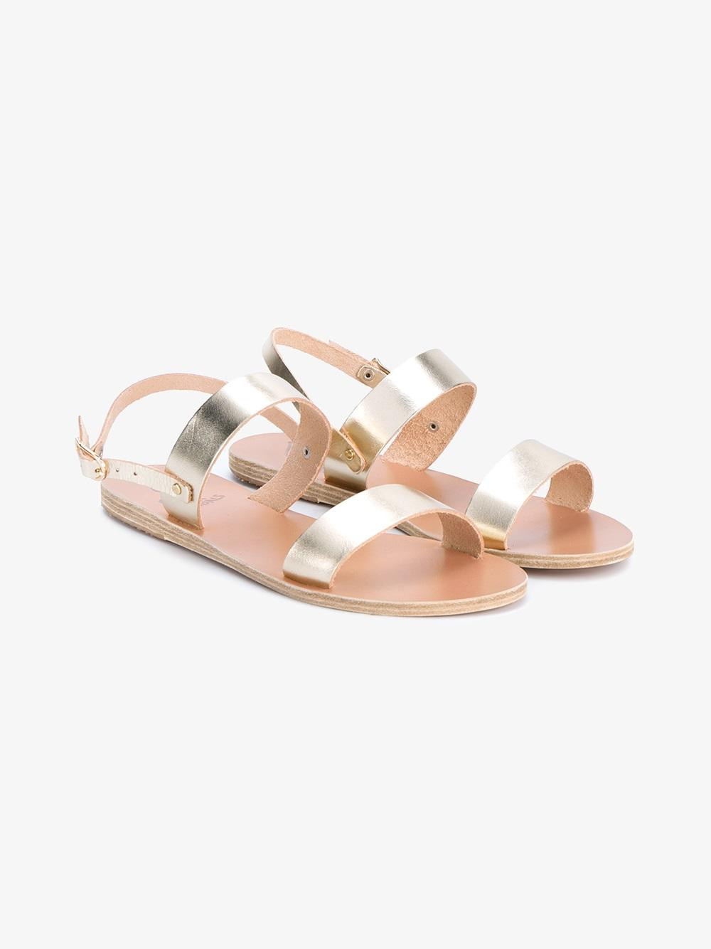 Ancient Greek Sandals 'Clio' metallic leather sandals