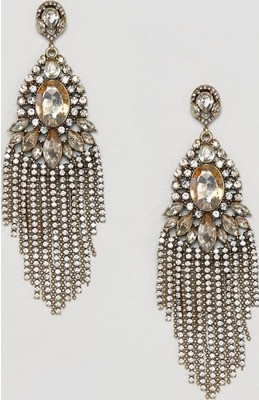 ALDO Statement Crystal and Jewels Drop Earrings