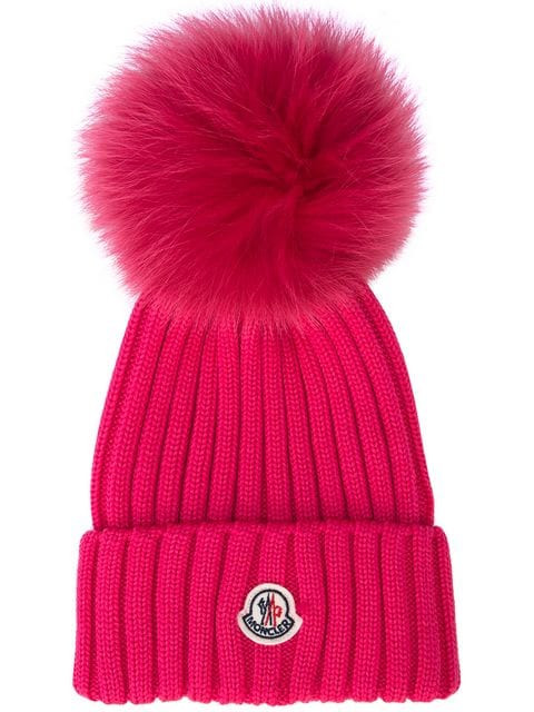 Moncler ribbed knit hat