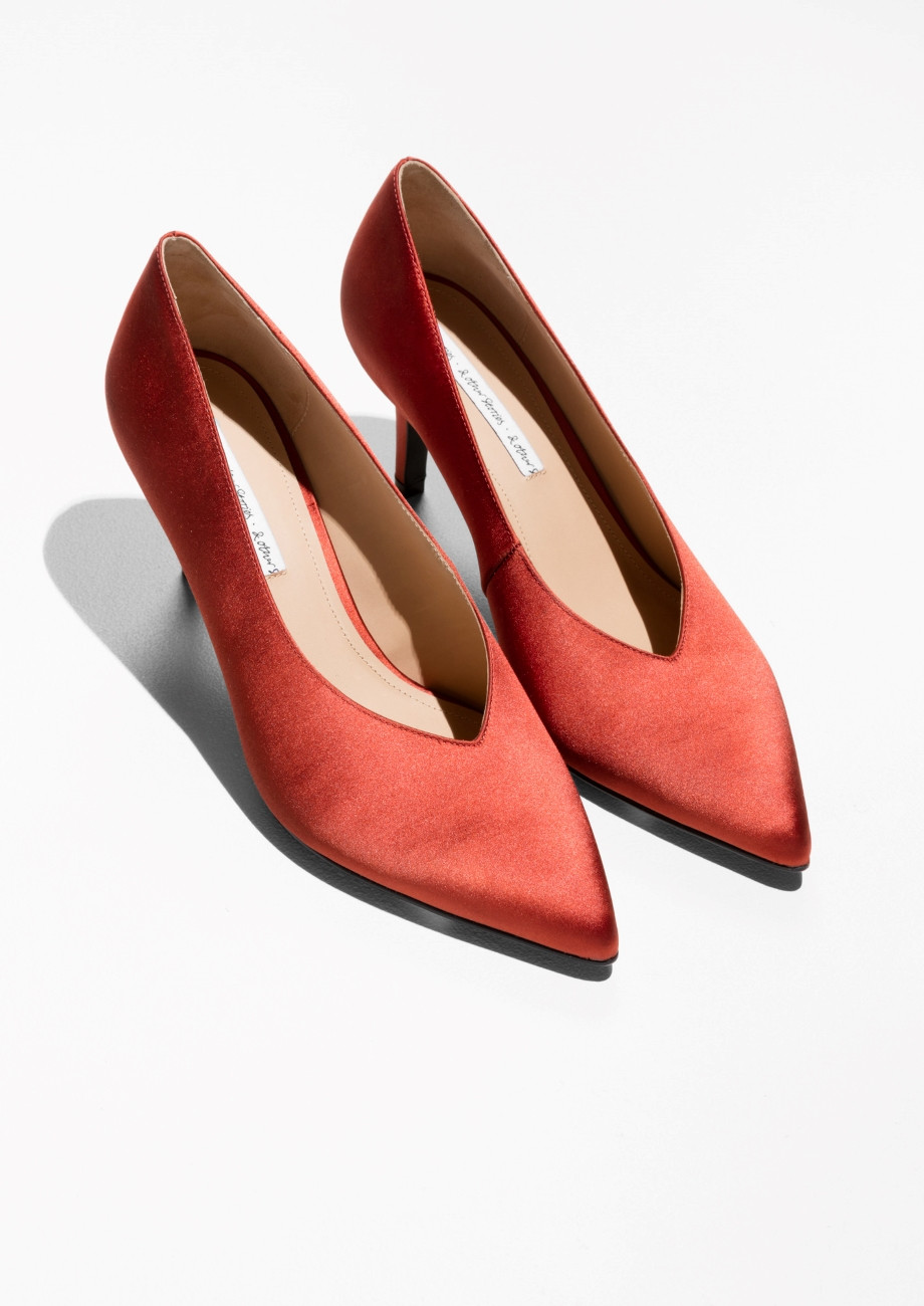 Other Stories Pointed Satin Pump