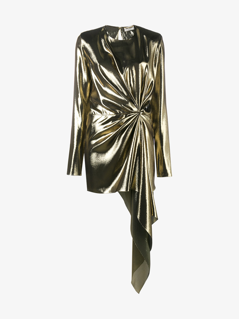 Saint Laurent Asymmetric Draped Mini Dress