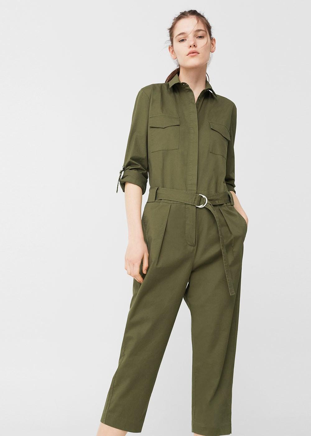 Mango Cropped cotton jumpsuit