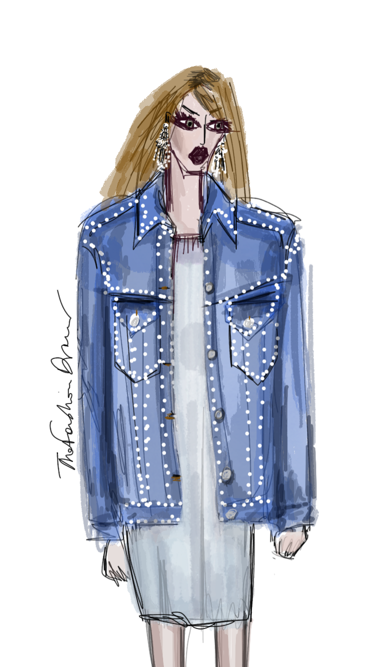 Denim Of Our Lives Fashion Illustration Style Blog London