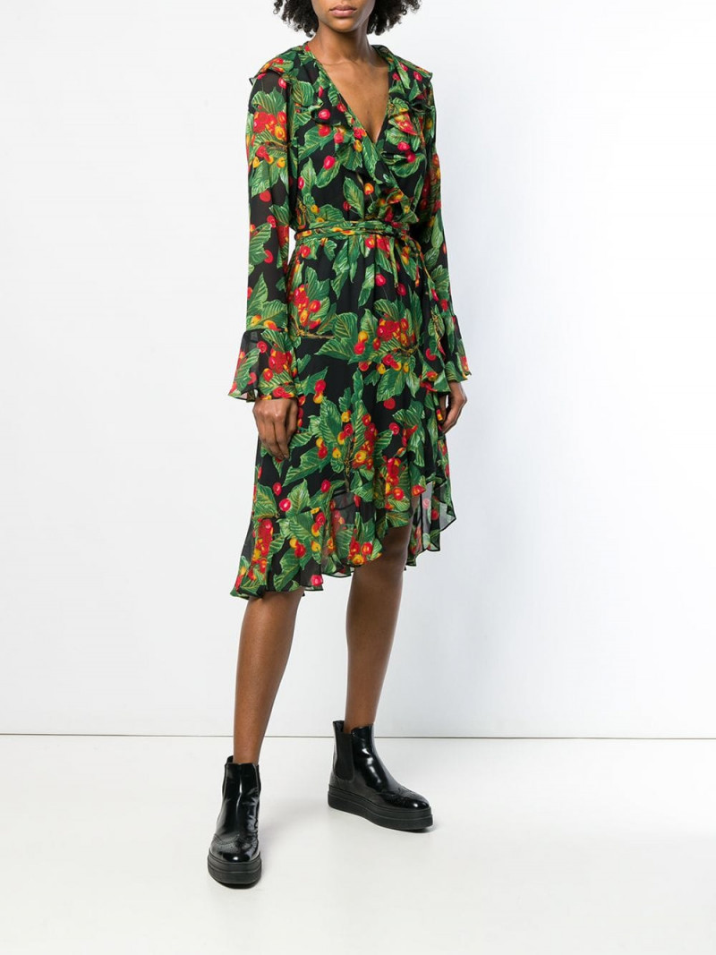Marc Jacobs cherries print wrap dress