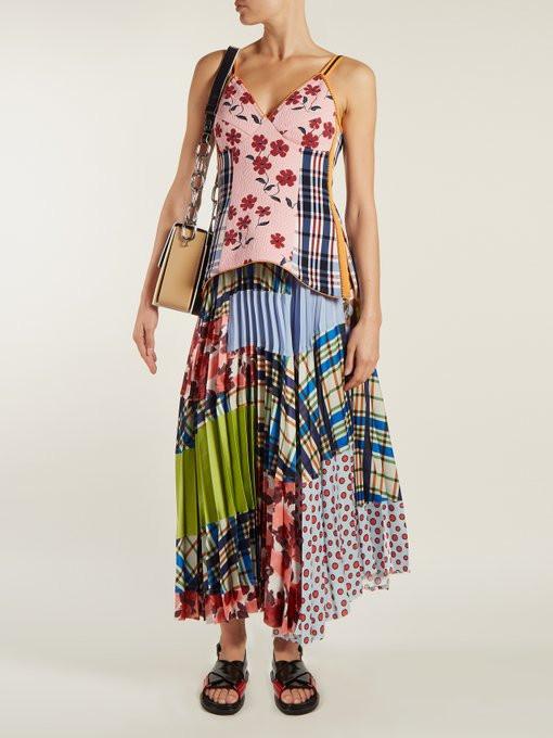 Marni Floral-jacquard V-neck top