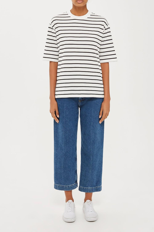 topshop Popper Side Stripe T-Shirt by Boutique
