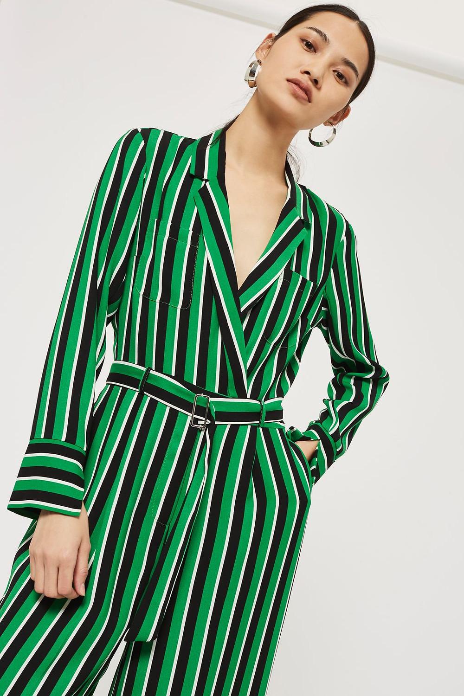 topshop Bold Striped Jumpsuit