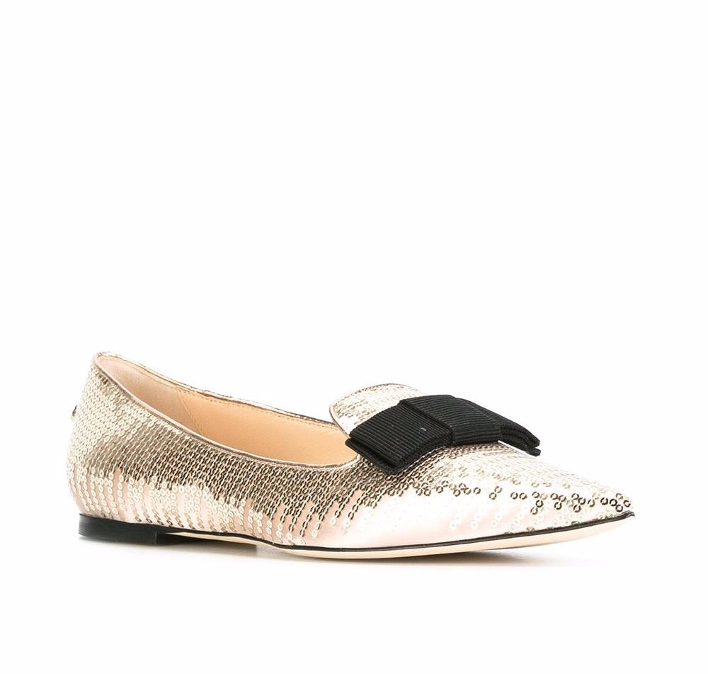 Jimmy Choo Gala slippers gold sequin
