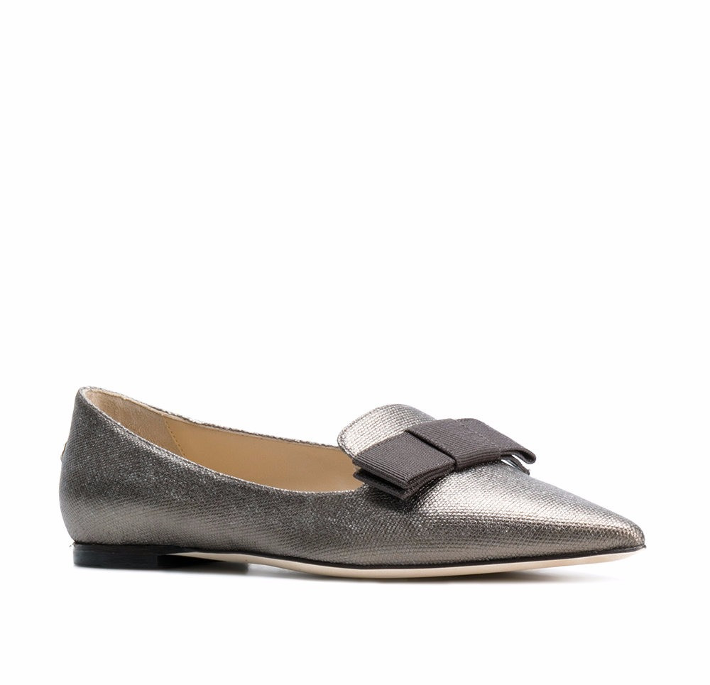 Jimmy Choo Gala slippers steel