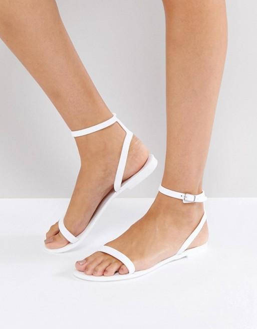 ASOS FELINE Jelly Flat Sandals