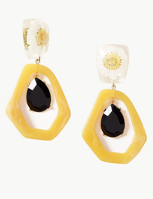 M&S Flower Drop Earrings