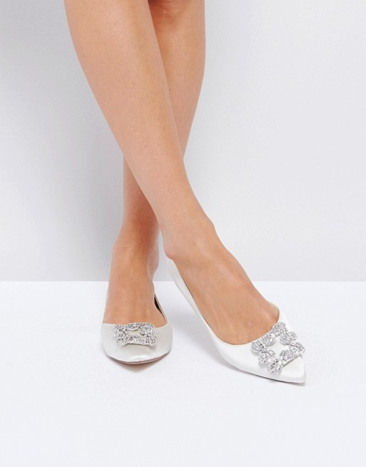 Dune Bridal Briella Embellished Flat Shoes