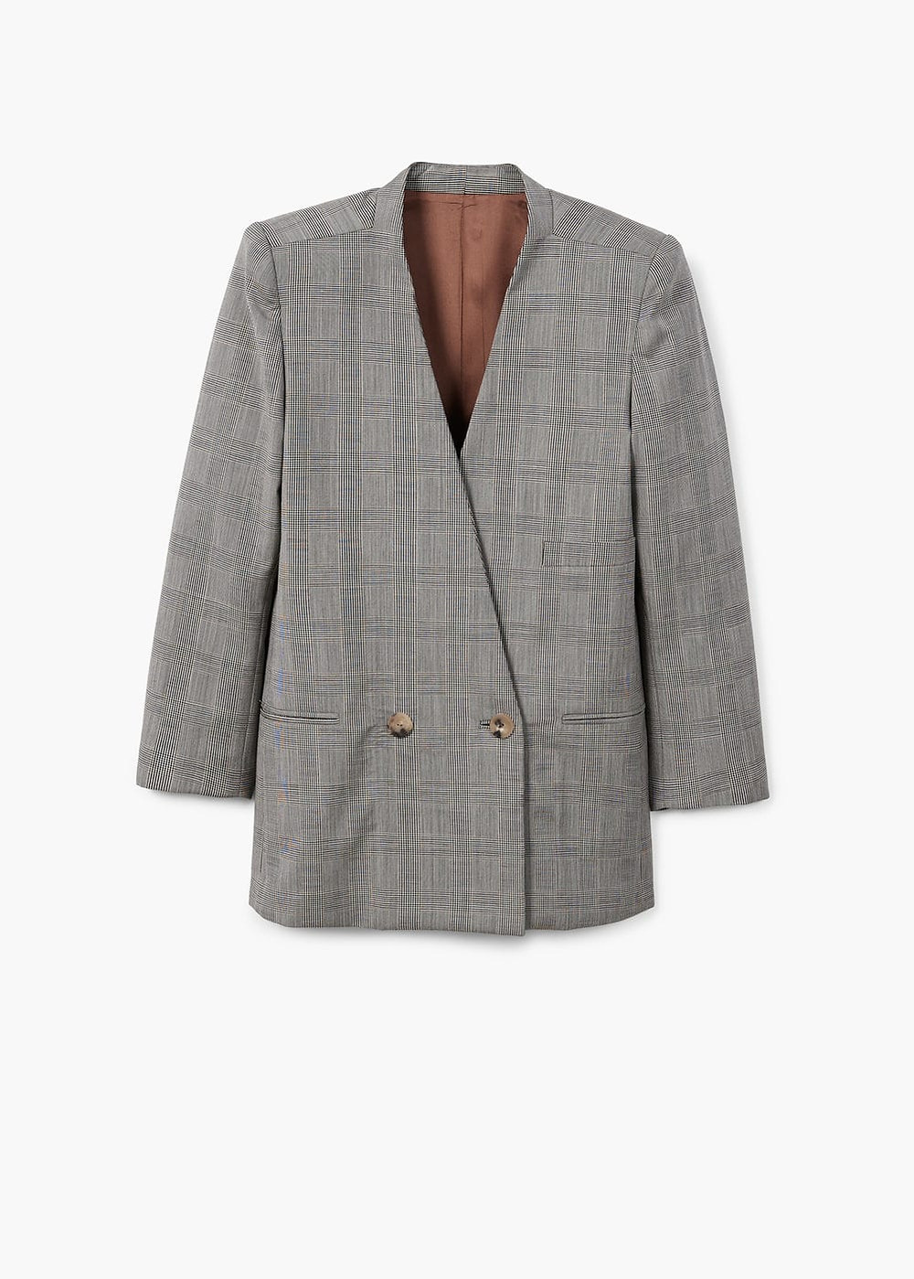 Mango Check wool blazer