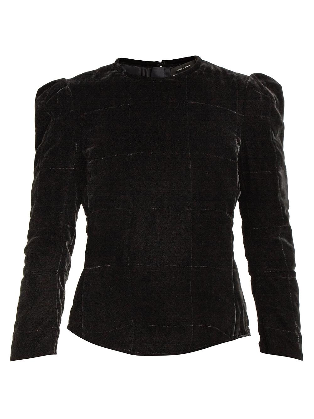 Isabel Marant Black Velvet Tuline Top