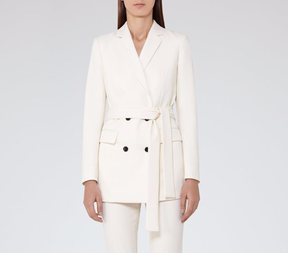Delpozo White organza belted shirt