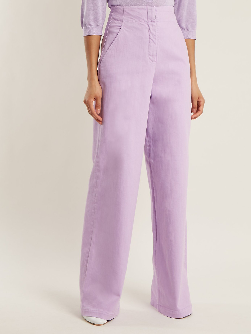 Tibi High-rise wide-leg jeans