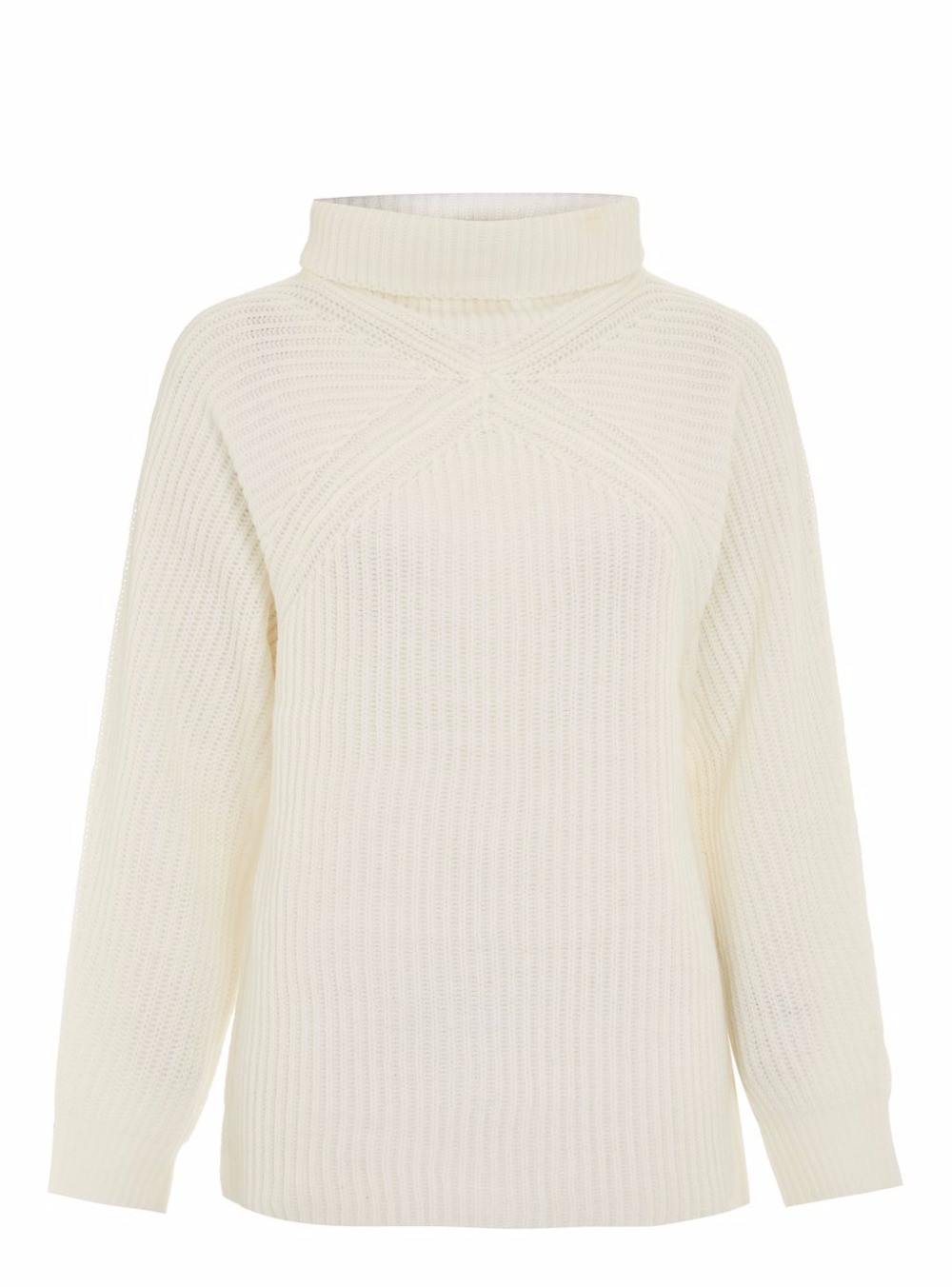 Topshop Roll Neck Ribbed Jumper