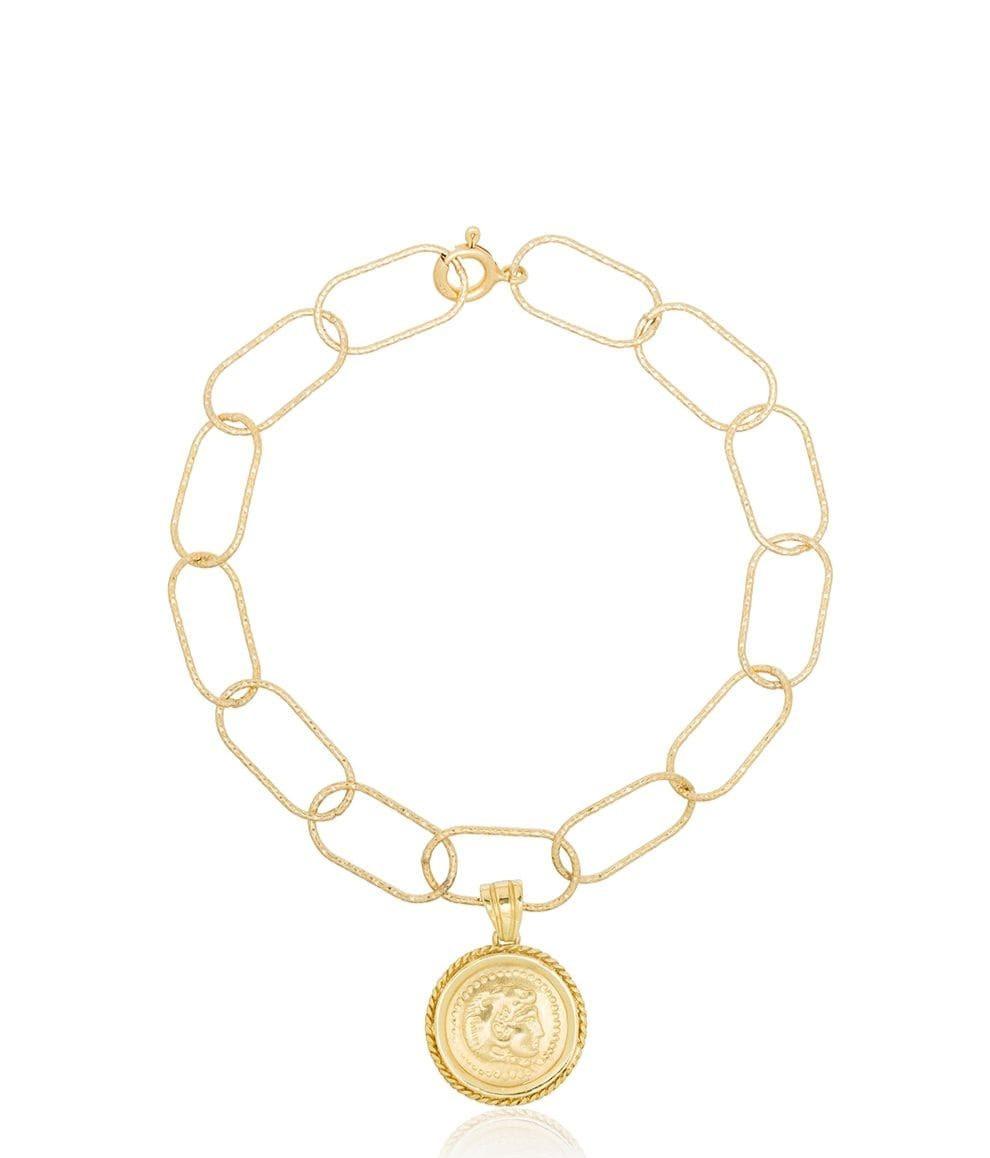 Hercules Coin Pendant Bracelet