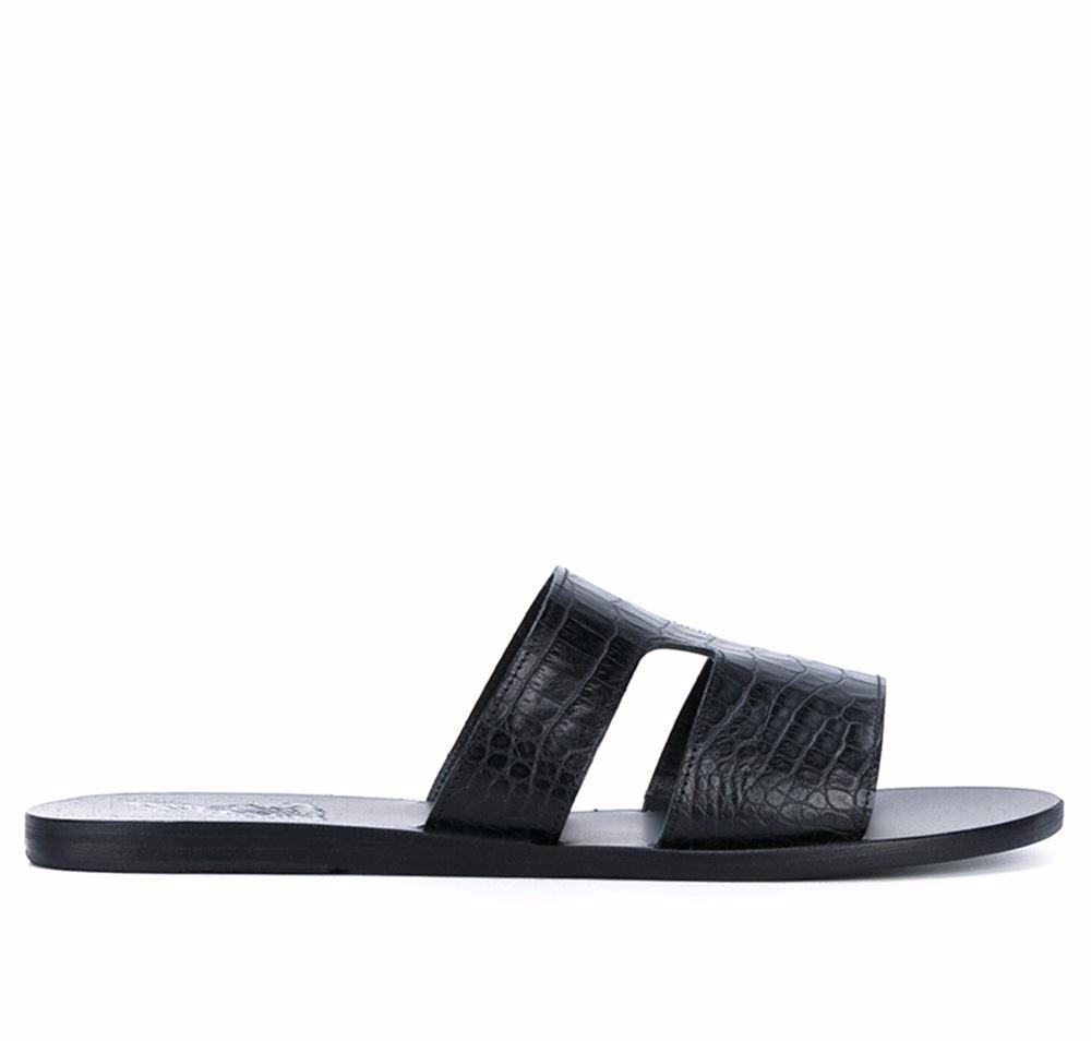 Ancient Greek Sandals Textured Leather Sandals