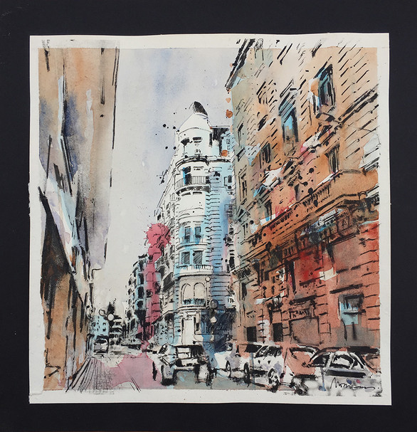 """Street in Barcelona"""