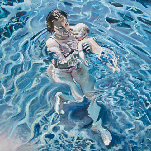 swimmer and child