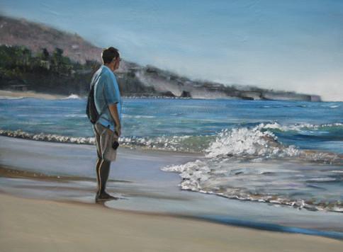 Colin, beach, California