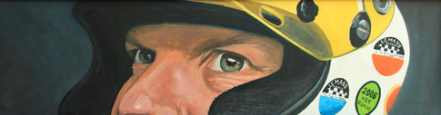 Adam in his Le Mans racing helmet.