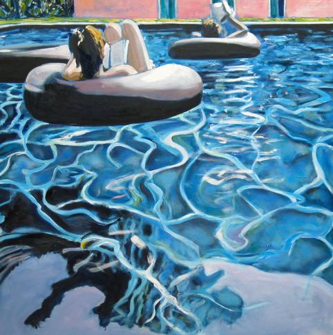 Rings in swimming pool, Luca, Italy