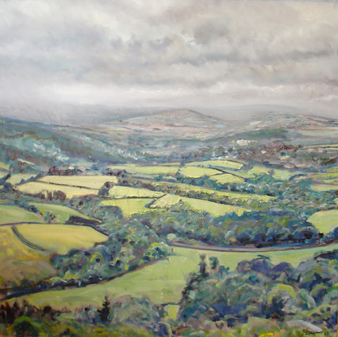 View to North Bovey, Dartmoor