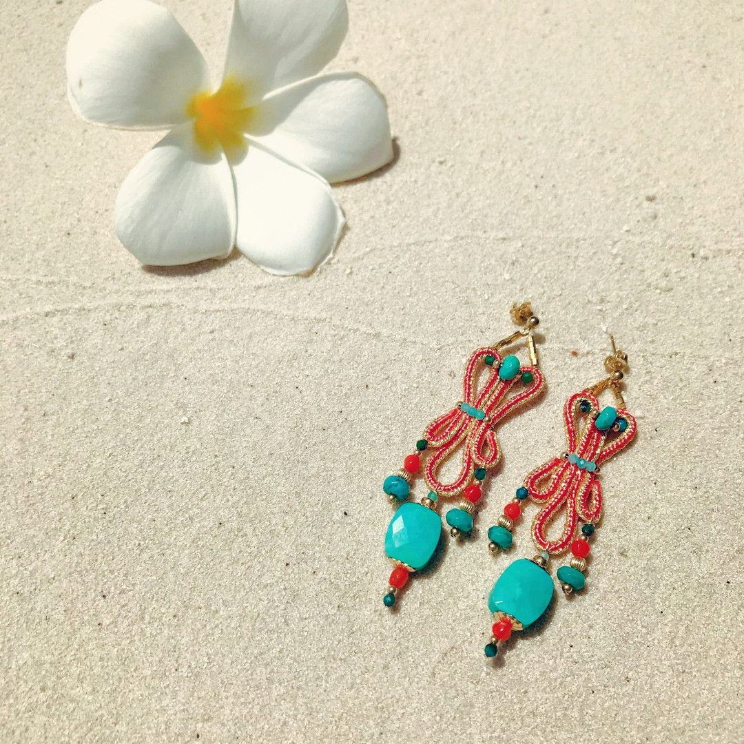 Boucles d'oeille PERSE Corail