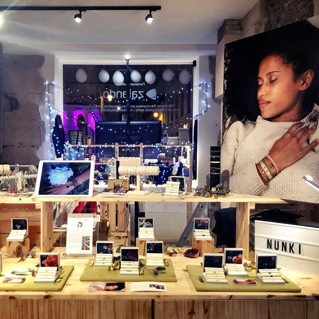 Pop-up dans le marais à Paris, à Noël 2019