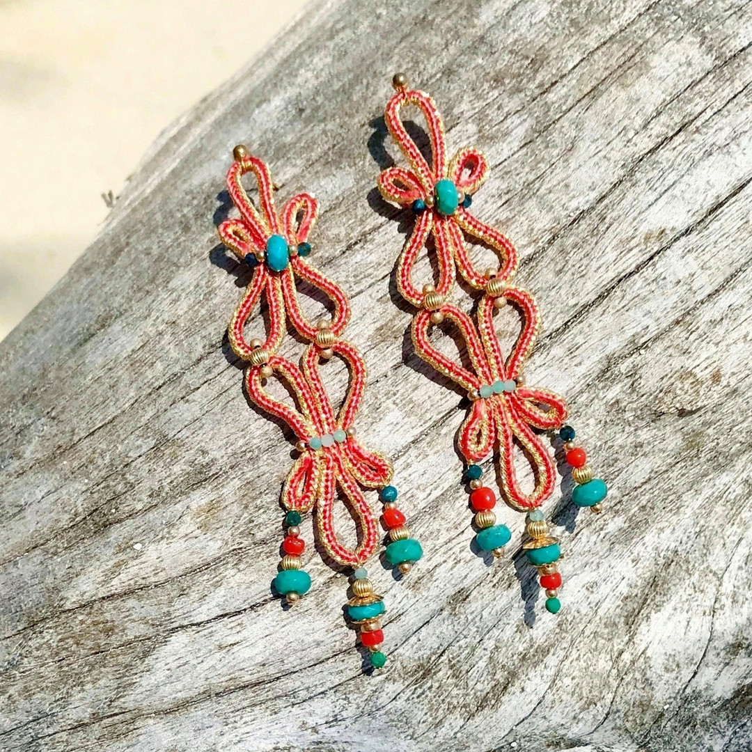 Boucles d'oreille ISIDA Corail
