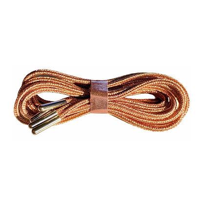 Lacets Bronze embouts argentés